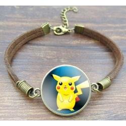Pokémon anime armband med Pikachu, brons
