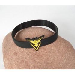 Team Instinct Pokemon Go Silikon svart armband