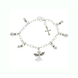 Armband med ängel och pärlor