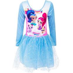 Prinsessklänning shimmer shime blå långärmad stl 6 år