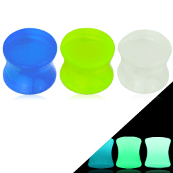 Glow in the dark plugg (5mm, Vit)