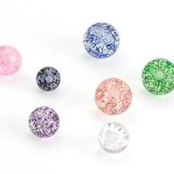 Lösa glitter kulor i akryl Ljusblå 5 mm