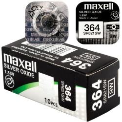 364 10-Pack SR621SW MAXELL Klockbatterier 1.55V