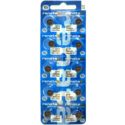377 10-Pack SR626SW RENATA Klockbatterier silveroxid 1.55V