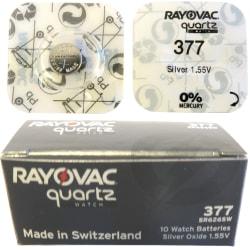 377 10-Pack SR626SW RAYOVAC Klockbatterier silveroxid 1.55V