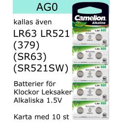 AG0 10-Pack Alk.1,5V Camelion LR521 ( 379 SR521W SR521SW )
