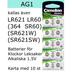 AG1 10-Pack Alk.1,5V Camelion LR621 ( 364 SR621SW )
