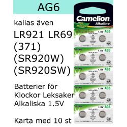 AG6 10-Pack Alk.1,5V Camelion LR921 ( 371 SR920SW )