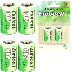 CR2 4-Pack Litium Batterier 3V 850mAh Eunicell