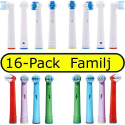 Oral-B kompatibla tandborsthuvuden Familj Mix Barn och Vuxna