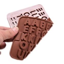 Choklad / Fondant form för bakning - Bokstäver