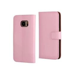 Fodral Äkta Läder / Plånbok - Samsung Galaxy S7 Rosa