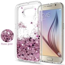 Galaxy S6 - Flytande Glitter 3D Bling Skal Case