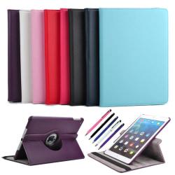 iPad Pro 10.5 - 360° Läderfodral / Skal + 3 i 1 Paket Svart