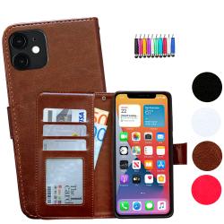 iPhone 12 Mini - Läderfodral / Skydd Brun