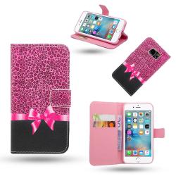 iPhone 5/5s/SE2016 - Fodral / Plånbok Läder - Rosett