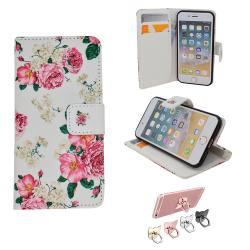 iPhone 5/5s/SE2016 LäderFodral Plånbok - Blommor
