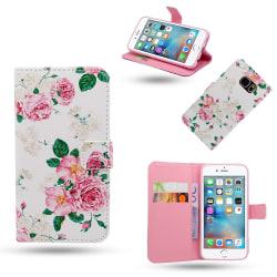 iPhone 6 / 6S - Fodral / Plånbok i Läder - Blommor