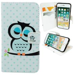 iPhone 6 / 6S - Fodral / Plånbok i Läder - Uggla