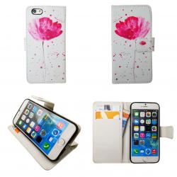 iPhone 6 / 6S - Fodral / Plånbok Läder - Blommor