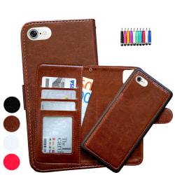 iPhone 6 / 6S - Plånboksfodral / Magnet Skal + Touchpenna Brun