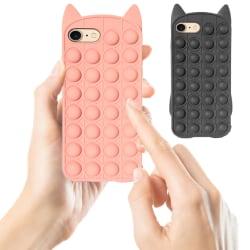 iPhone 6/7 / 8 / SE (2020) - Skydd för fodral Pop It Fidget iPhone 7 Svart