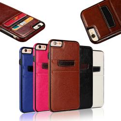 iPhone 6 Plus / 6S Plus - Läderfodral / Plånbok Svart