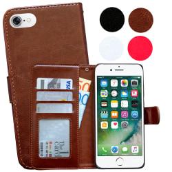 iPhone 7/8/SE (2020) - Plånboksfodral / Skydd Brun
