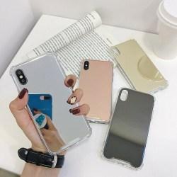 iPhone 7/8/SE (2020) - Skal / Skydd / Spegel T Silver