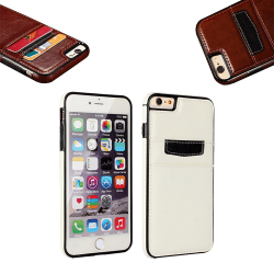 iPhone 7 Plus / 8 Plus - Läderfodral/Skydd Vit
