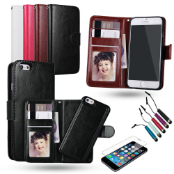iPhone 7 Plus / 8 Plus - Plånboksfodral / Magnet Skal Svart