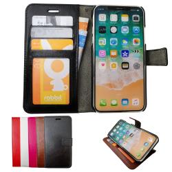 iPhone X/Xs - Plånboksfodral / Skydd Brun