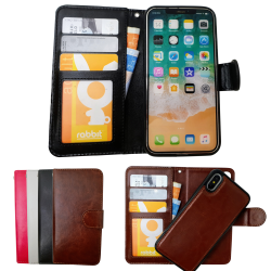 iPhone Xr - Läderfodral / Skydd Svart