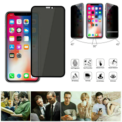 iPhone Xs Max - Integritet Härdat Glas Skärmskydd