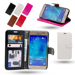 Läderfodral / Plånbok - Samsung Galaxy J5 2016 Svart