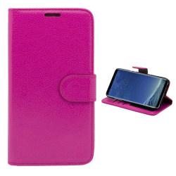 Läderfodral / Plånbok - Samsung Galaxy S8 Rosa