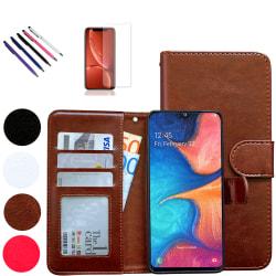Samsung Galaxy A10 - Läderfodral / Skydd Vit