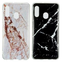 Samsung Galaxy A20e - Skal / Skydd / Marmor Svart