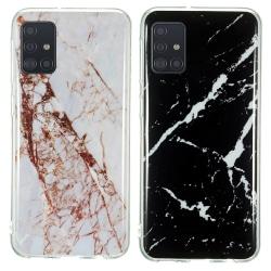 Samsung Galaxy A71 - Skal / Skydd / Marmor Vit
