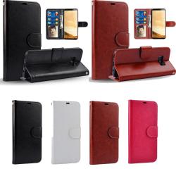 Samsung Galaxy Note 8 - Läderfodral / Plånbok Brun