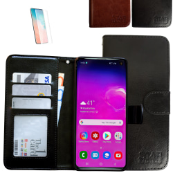 Samsung Galaxy S10 - Läderfodral / Skydd Svart