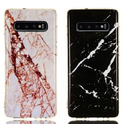 Samsung Galaxy S10 Plus - Skal / Skydd / Marmor Vit