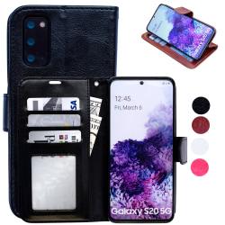 Samsung Galaxy S20 - Läderfodral / Skydd Svart