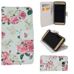 Samsung Galaxy S6 - Fodral / Plånbok i Läder - Rosor