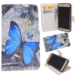 Samsung Galaxy S7 - Fodral/Plånbok Läder - Fjäril
