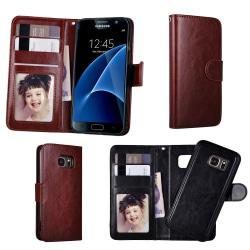 Samsung Galaxy S7 - Läderfodral / Magnet Skal Brun