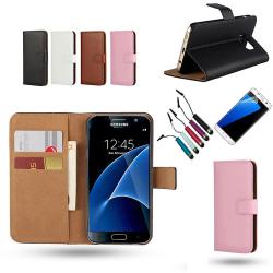 Samsung Galaxy S7 - Läderfodral/Skydd Svart