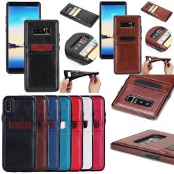 Samsung Galaxy S7 - Smidigt Plånboksskal / Fodral i läder Vit
