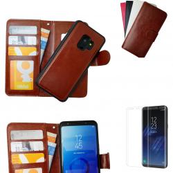 Samsung Galaxy S9 - Läderfodral / Magnet Skal Brun
