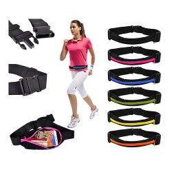 Sportbälte / Midjeväska för plånbok, nycklar, mobil etc. Svart